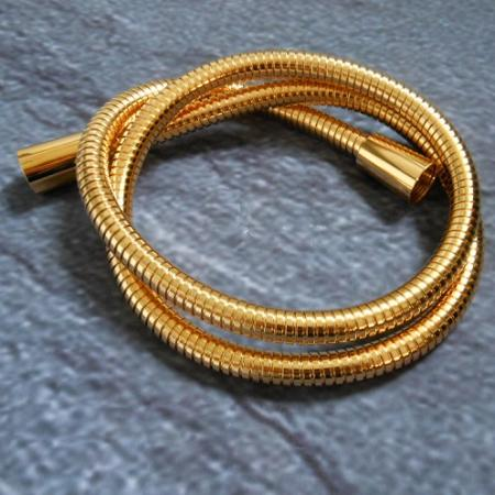 metall brauseschlauch gold 24k 175 cm dn 15 duschschlauch 1750 mm vergoldet. Black Bedroom Furniture Sets. Home Design Ideas