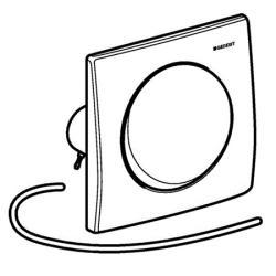 geberit 241164001 urinal bet tigungsplatte pneumatisch design mambo edelstahl. Black Bedroom Furniture Sets. Home Design Ideas