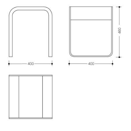 hewi system 800 badhocker chrom weiss 400 x. Black Bedroom Furniture Sets. Home Design Ideas