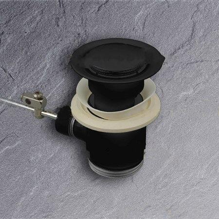 hansgrohe ablaufgarnitur schwarz 94139 f r waschtisch und. Black Bedroom Furniture Sets. Home Design Ideas