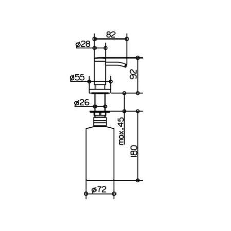 keuco 14949 plan einbau lotionspender 14949010000 kupfer gl nzend. Black Bedroom Furniture Sets. Home Design Ideas