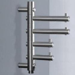phos garderobenhaken gh 4 3 edelstahl matt mit 4 drehbaren haken. Black Bedroom Furniture Sets. Home Design Ideas