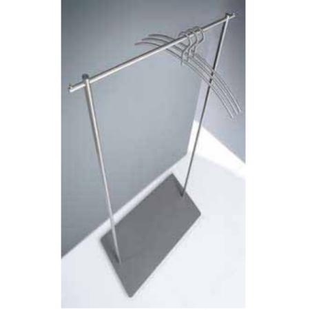 phos standgarderobe gw 1 or mit garderobenstange edelstahl matt. Black Bedroom Furniture Sets. Home Design Ideas