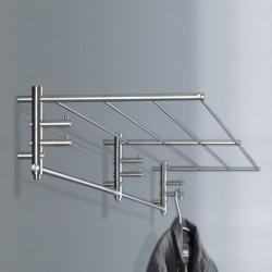 phos wandgarderobe g1 1500 mm edelstahl garderobe mit 6. Black Bedroom Furniture Sets. Home Design Ideas