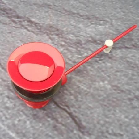 waschtisch ablaufgarnitur rot ral 3003 mit st psel. Black Bedroom Furniture Sets. Home Design Ideas