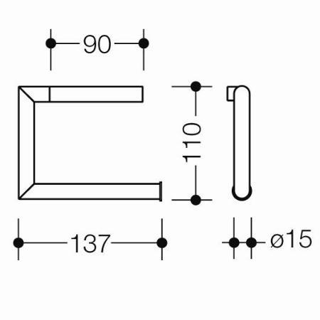 hewi system 162 wc papierhalter edelstahl matt. Black Bedroom Furniture Sets. Home Design Ideas