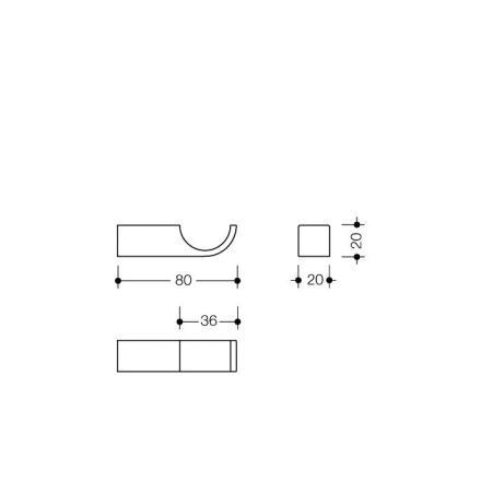 hewi system 800 k haken felsgrau 80 mm 95 bad. Black Bedroom Furniture Sets. Home Design Ideas