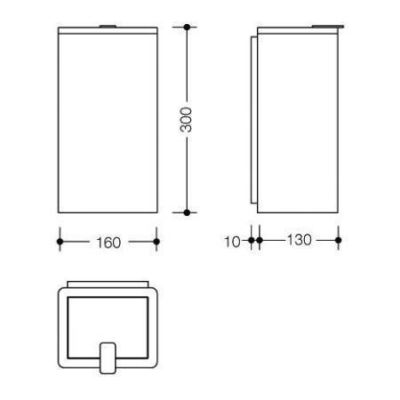 hewi system 100 hygieneabfallbeh lter edelstahl. Black Bedroom Furniture Sets. Home Design Ideas