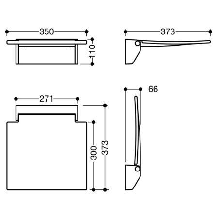 hewi system 100 klappsitz 350 weiss. Black Bedroom Furniture Sets. Home Design Ideas