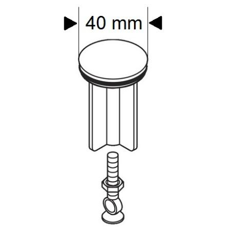 hansgrohe waschbeckenst psel edelmatt ventilkegel 96026880. Black Bedroom Furniture Sets. Home Design Ideas