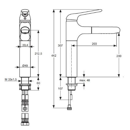 ideal standard a3816 k chen armatur ceraluna a3816aa. Black Bedroom Furniture Sets. Home Design Ideas