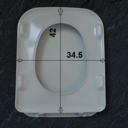 standard tonca wc-sitz manhattan grau mit deckel scharniere chrom,