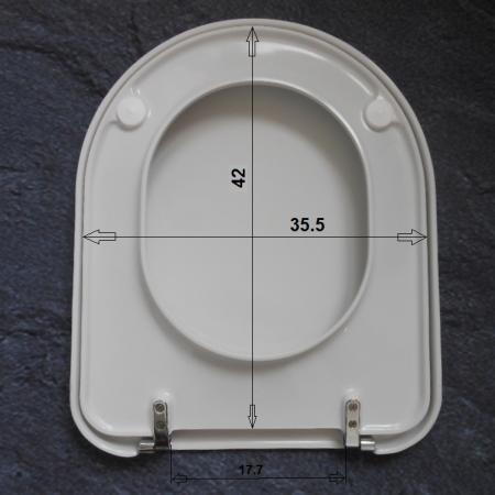 Hervorragend Keramag Mango WC-Sitz Jasmin-matt 573800000-JA Scharniere chrom 573800 VX02