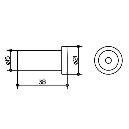 keuco plan handtuchhaken kupfer poliert 38 mm 14916010000 ku wandhaken. Black Bedroom Furniture Sets. Home Design Ideas