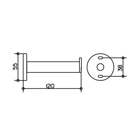 keuco plan toilettenpapierhalter 14963 aluminium 14963170000. Black Bedroom Furniture Sets. Home Design Ideas