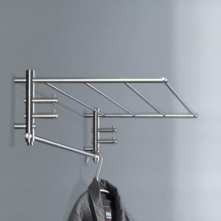 phos wandgarderobe g1 600 mm edelstahl garderobe mit 4. Black Bedroom Furniture Sets. Home Design Ideas