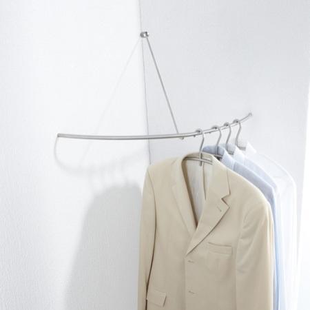 Phos edelstahl matt eckgarderobe g 500 vw viertelkreis for Garderobe ecke