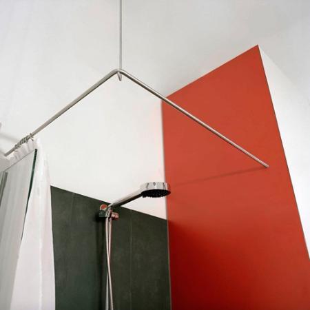 phos duschvorhangstange edelstahl d se 900 900 mm l form. Black Bedroom Furniture Sets. Home Design Ideas