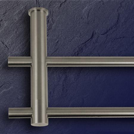 phos k chenreling edelstahl 400 mm kr 2 stangen mit 8 haken relingset. Black Bedroom Furniture Sets. Home Design Ideas