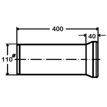 viega wc anschlussstutzen bleu 110 x 400 mm dn 100 mit dichtung 101831 bu. Black Bedroom Furniture Sets. Home Design Ideas